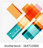 straight glossy geometric... | Shutterstock .eps vector #364712000