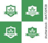 icons vegan food  set of badges ... | Shutterstock .eps vector #364720928
