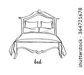 vintage king size bed  vintage... | Shutterstock .eps vector #364721678