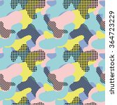 seamless geometric pattern with ... | Shutterstock .eps vector #364723229