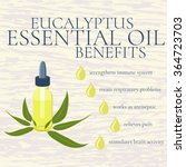 benefits of eucalyptus... | Shutterstock .eps vector #364723703