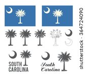 stylized flag of south carolina | Shutterstock .eps vector #364724090