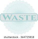waste money style rosette | Shutterstock .eps vector #364725818