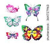 butterflies design | Shutterstock . vector #364727963