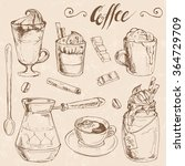coffee and ingredients set ...   Shutterstock .eps vector #364729709