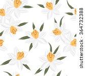 Seamless Vector Jonquil Flower...