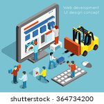 web development and ui design... | Shutterstock .eps vector #364734200