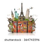 famous monuments of the world... | Shutterstock . vector #364743596