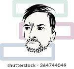 serious brutal man with a beard | Shutterstock .eps vector #364744049