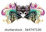 owl splashes. grunge tribal owl ... | Shutterstock .eps vector #364747130