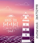 a summer sunset themed blurred... | Shutterstock .eps vector #364752998