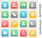 users icons with color buttons... | Shutterstock .eps vector #364753100