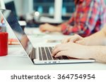 hands typing on the keyboard | Shutterstock . vector #364754954