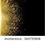 gold glitter dust texture.gold... | Shutterstock .eps vector #364755848