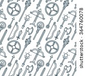 seamless pattern. fantasy role... | Shutterstock .eps vector #364760078