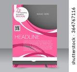 flyer  brochure  magazine cover ... | Shutterstock .eps vector #364767116
