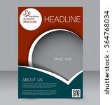 flyer template. brochure design.... | Shutterstock .eps vector #364768034