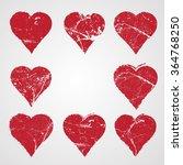 set of hearts . grunge stamps... | Shutterstock .eps vector #364768250