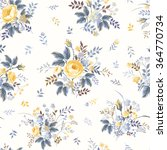 seamless floral pattern with... | Shutterstock .eps vector #364770734