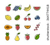 line icon collection. set of... | Shutterstock .eps vector #364774418