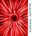 Vertical Red Medallion Spiral...
