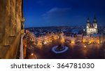 old town square at night ... | Shutterstock . vector #364781030