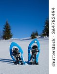 Snowshoeing. Snowshoes In The...