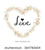 valentines day greeting card.... | Shutterstock .eps vector #364783604
