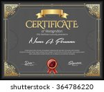 certificate of recognition... | Shutterstock .eps vector #364786220