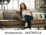 photo of happy woman in elegant ...   Shutterstock . vector #364789214