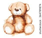 cartoon lovely teddy bear toy...   Shutterstock . vector #364789874