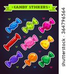 funny bright candy stickers set ...