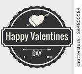 valentines day eements... | Shutterstock .eps vector #364800584