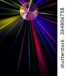 Abstract Blur Disco Light Ball...