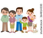 happy three generation family... | Shutterstock .eps vector #364814330