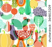 seamless vector background with ... | Shutterstock .eps vector #364815209