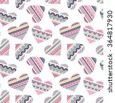 seamless pattern with hearts in ... | Shutterstock .eps vector #364817930