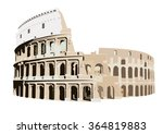 the colosseum in rome  italy | Shutterstock .eps vector #364819883