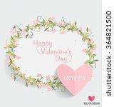 valentine s day card. vector... | Shutterstock .eps vector #364821500