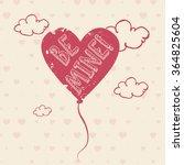 valentine vector heart shaped... | Shutterstock .eps vector #364825604