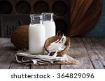 coconut vegan milk non dairy in ... | Shutterstock . vector #364829096