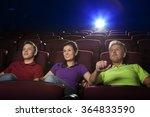 people sitting in movie theater ...   Shutterstock . vector #364833590