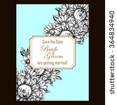 invitation with floral... | Shutterstock .eps vector #364834940