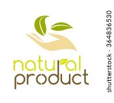 natural product logo design... | Shutterstock .eps vector #364836530