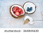 fruits  coconut  organic  fresh ... | Shutterstock . vector #364844630