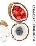 fruits  coconut  organic  fresh ... | Shutterstock . vector #364844636