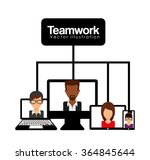 teamwork concept design    Shutterstock .eps vector #364845644