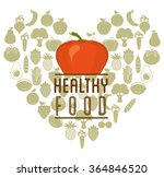 healthy food design  | Shutterstock .eps vector #364846520