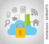 cloud security design    Shutterstock .eps vector #364846973