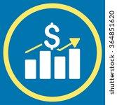 sales bar chart vector icon....   Shutterstock .eps vector #364851620